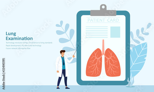 Respiratory disease tests, doctors are analyzing the status of lung diseases,med Wallpaper Mural