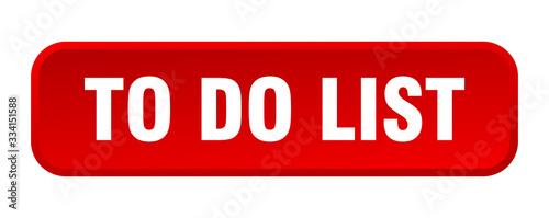 Cuadros en Lienzo to do list button. to do list square 3d push button