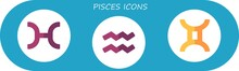 Pisces Icon Set