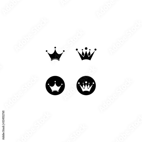 Photo Crown logo template vector illustration