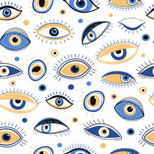 Eye Pattern. Abstract Evil Eye...