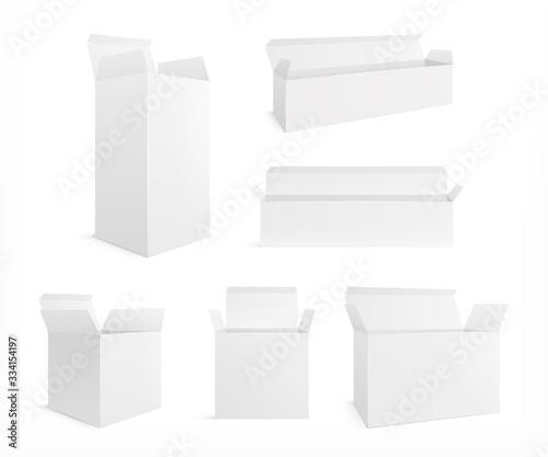 Open realistic box Fototapeta