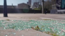 Shattered Window Glass Pieces ...