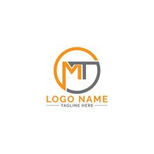 MT Logo Design Vector