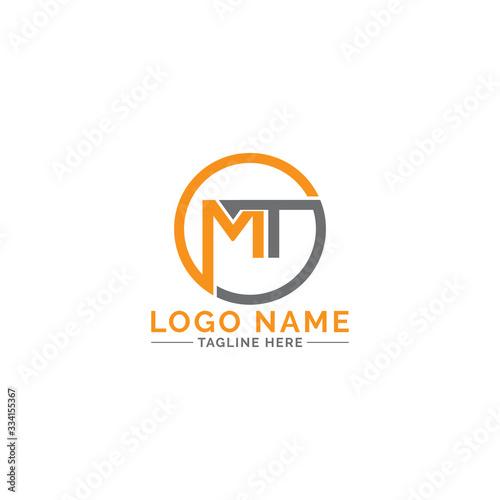 Fotografie, Obraz MT logo design vector