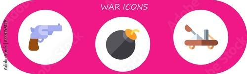 Stampa su Tela Modern Simple Set of war Vector flat Icons
