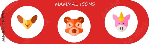 mammal icon set