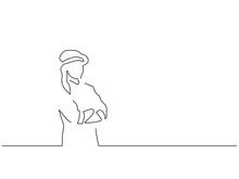 Baker Isolated Line Drawing, V...