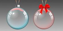 Christmas Transparent Glass Ba...