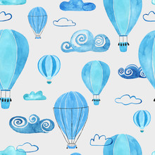 Kids Seamless Pattern With Air...
