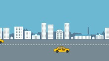 Taxicabs On The Road: Animatio...