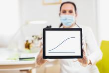 Female Doctor Uses A Digital T...