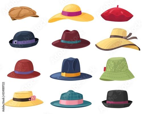 Carta da parati Hats and headgears