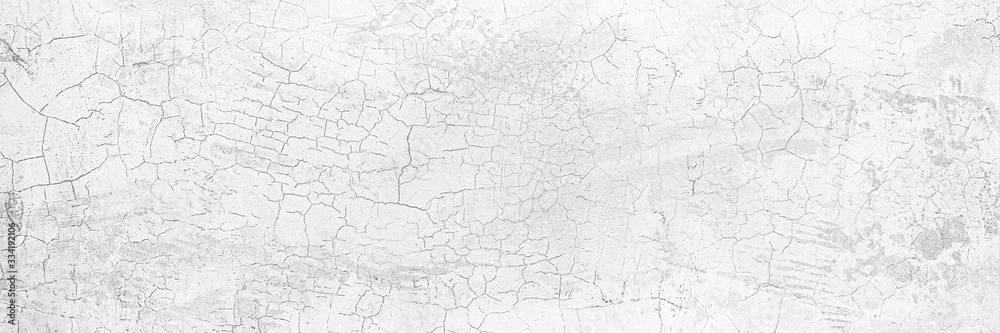 Fototapeta Full Frame Panorama Wall Background High Resolution on White Gray Cement Abstract texture.