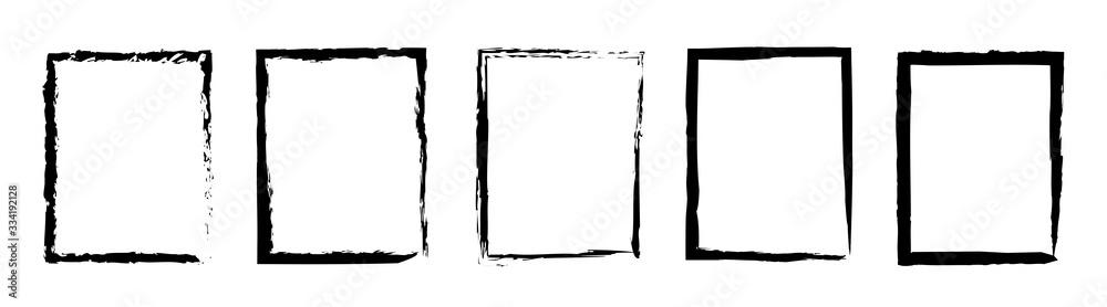 Fototapeta Grunge frame border set vector illustration