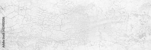Full Frame Panorama Wall Background High Resolution on White Gray Cement Abstract texture Slika na platnu