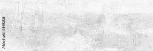 Obraz na plátne Full Frame Panorama Wall Background High Resolution on White Gray Cement Abstract texture