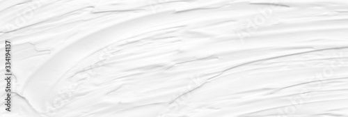 Obraz na plátně Cream texture for skin nourishment for good skin health Lotion Cosmetics Full frame Background Abstract texture Longitudinal Panorama High resolution