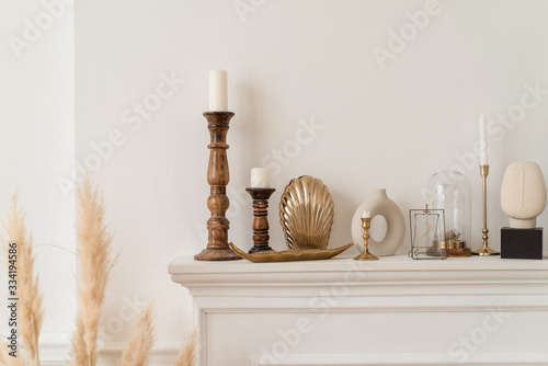 Fotografie, Obraz candlestick with candles