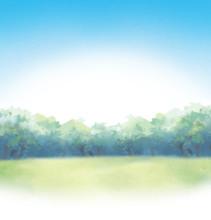 青空と芝生のイベント...