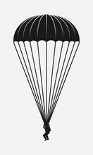 Parachutist Black And White Ve...