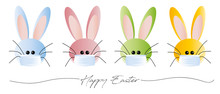 Cute Corona Easter Bunnies With Masks