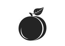Peach Icon. Food Ingredient Im...