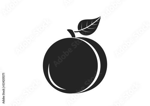 Obraz na plátně peach icon