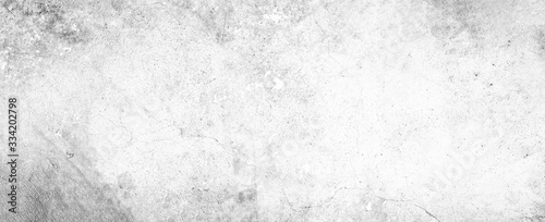 Leinwand Poster White background on cement floor texture - concrete texture - old vintage grunge
