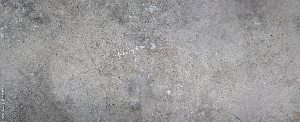 Fototapeta Grey background on cement floor texture - concrete texture - old vintage grunge texture design - large image in high resolution