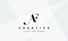 AF Logo Design Vector Illustra...