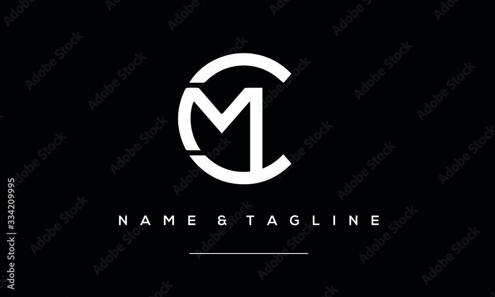 Fototapeta Alphabet letter icon logo CM or MC
