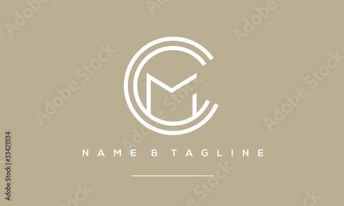 Obraz alphabet letter icon logo CCM or MCC - fototapety do salonu