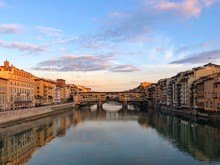 Ponte Vecchio And The Arno River, Florence, Tuscany, Italy