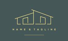 A Line Art Icon Logo A Modern ...