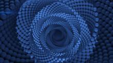 Blue Vortex Tunnel 3D Render Illustration