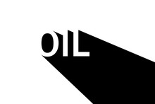 Stylized Inscription Oil In Bl...
