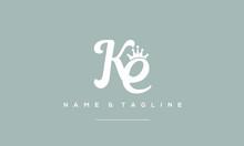 Alphabet Letter Icon Logo KE W...