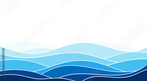 Fototapeta Abstract ocean wave layer background vector illustration obraz