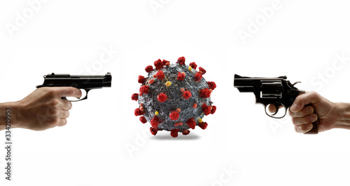 Kill and extinguish the coronavirus infection. Canvas Print