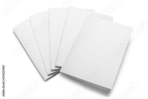 Obraz Folded sheets of white paper, isolated on white background - fototapety do salonu