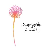 Sympathy Card With A Single Fl...