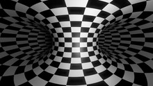 Psychedelic Checkered Torus Tunnel