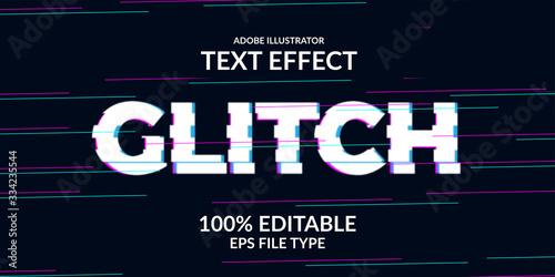 techno glitch text effect Tableau sur Toile