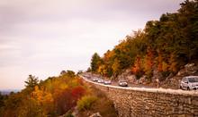 Mountain Road In Fall