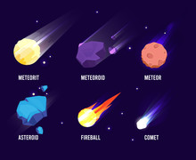Space Objects. Glowing Univers...