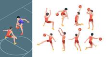Basketball Game. Sport Players...