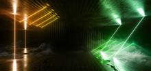 Smoke Neon Glowing Background ...
