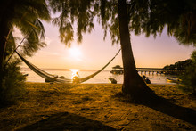 Beautiful Sunset On The Island Of Kecil One Of The Two Islands That Form The Perhentian In Malaysia.