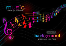 Music Notes. Musical Symphony....
